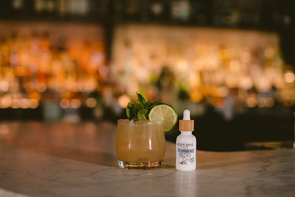 Golden Apple Cannabis Terpene Cocktail Recipe - The Sacred Chao