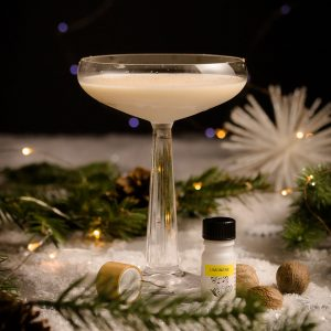 Brandy Alexander Limonene terpene cocktail recipe by Golden Apple Cannabis Co. and Spoonabilities