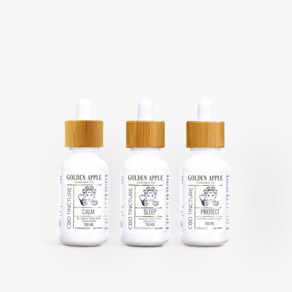 Explore Tincture Collection - CBD - Golden Apple Cannabis Co.